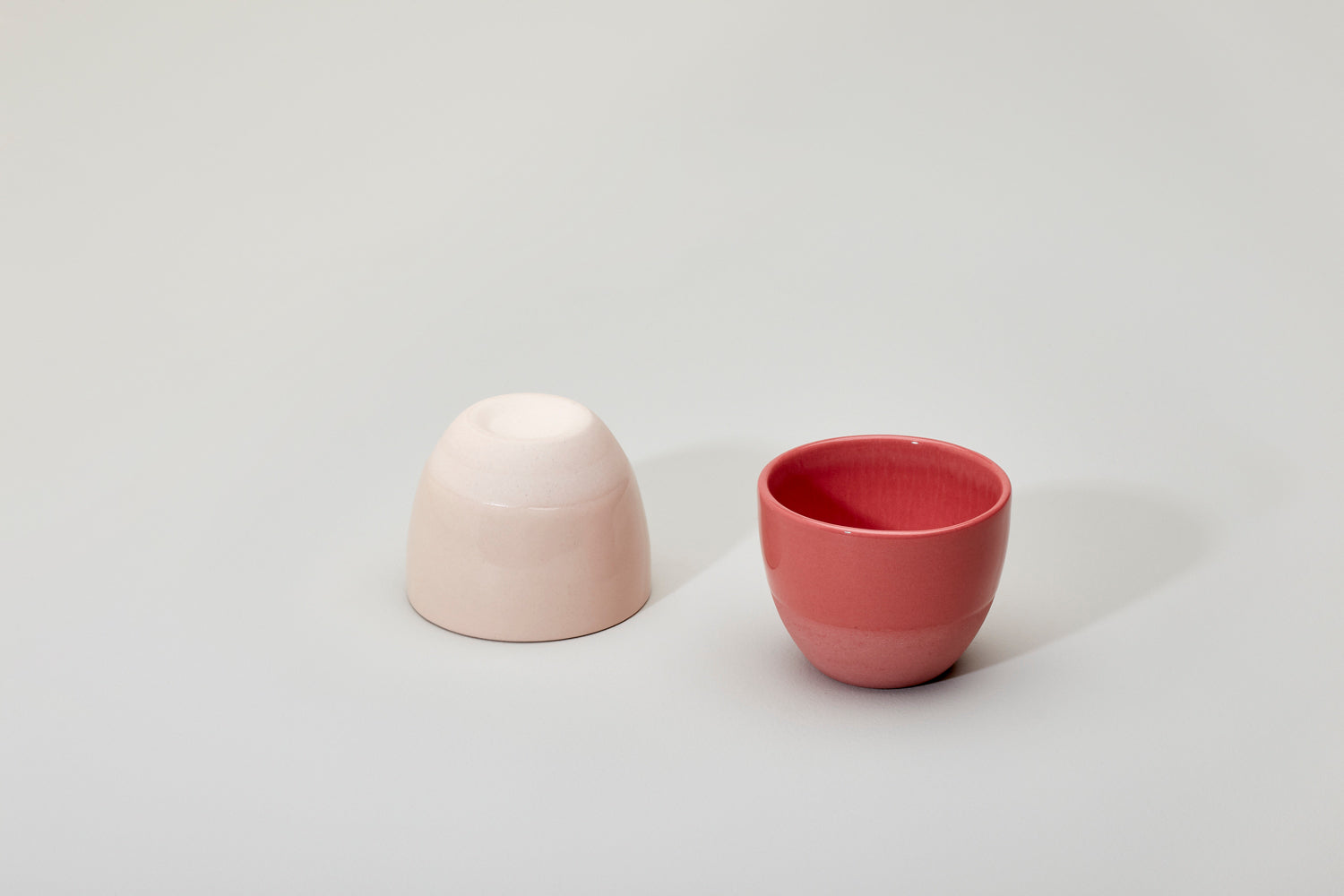 Simple cups, red set