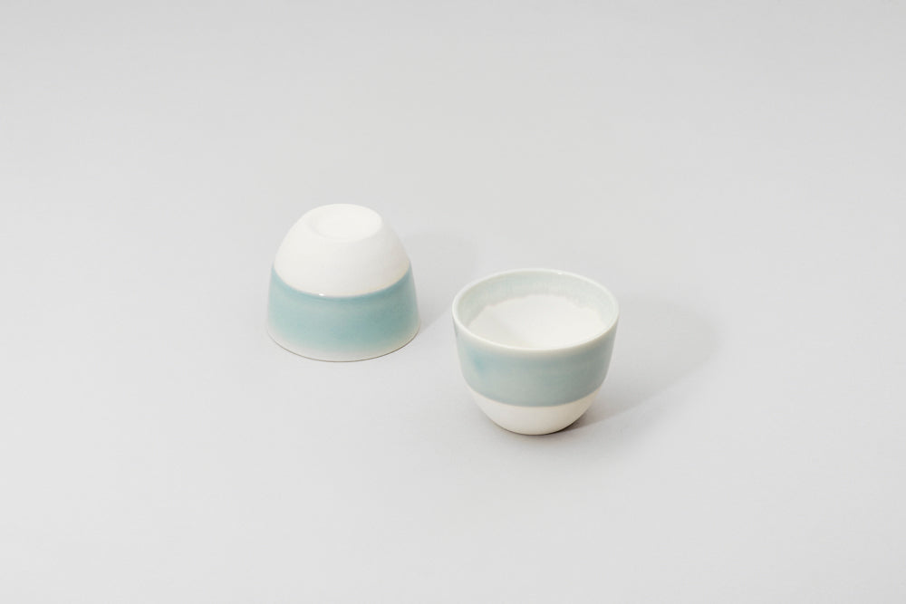 Simple turquoise cup