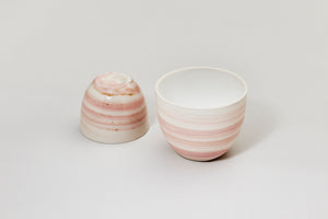 Smoke cup, light pink, glossy finish
