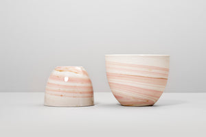 Smoke cup, light pink&brown