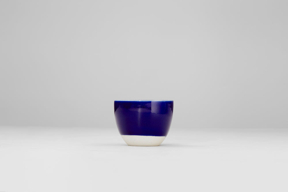 Simple blue cup