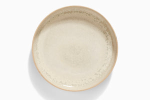 Ceramic plate - light yellow