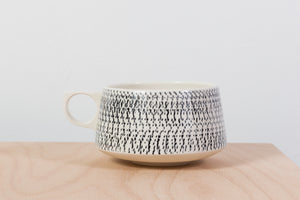 Tea mug, Black decore