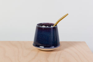 Simple maté cup, purple&blue