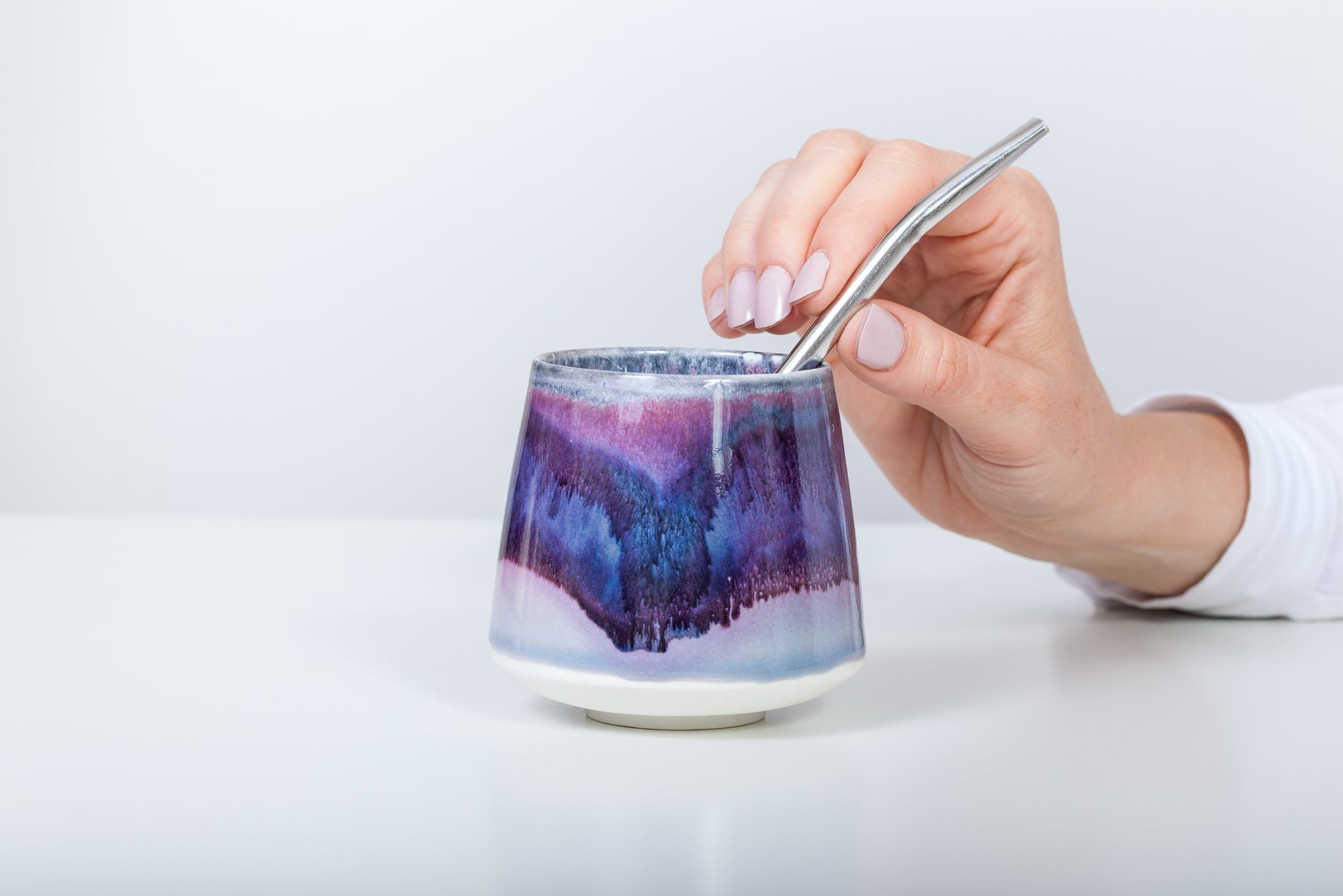 Simple maté cup, purple