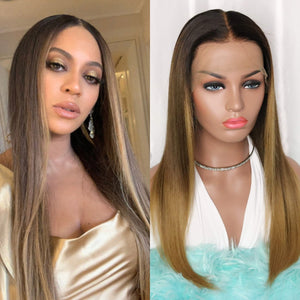 Beyonce inspired, glueless lace front wig in 18 inches.