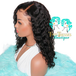 16 Inch Loose Curly Glueless Lace Front Wig