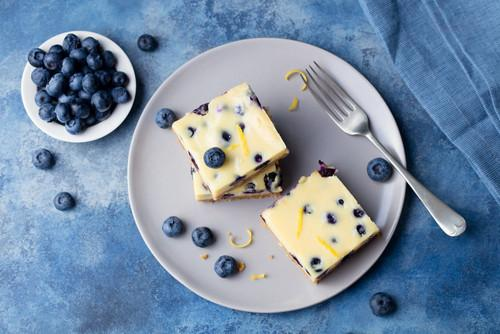 Rich Blueberry Lemon Cheesecake Square