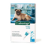 Advantage Dog 4-10kg Flea & Lice Spot-On Treatment