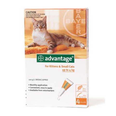 Advantage Kitten & Small Cat 1-4kg Tick & Flea Spot-On Treatment