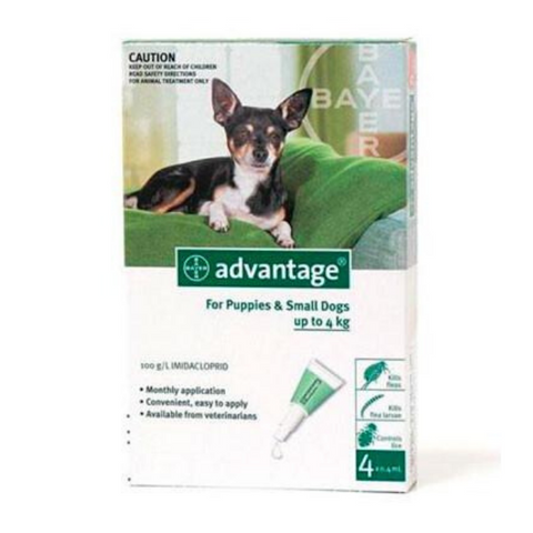 Advantage Puppy & Small Dog 0-4kg Flea & Lice Spot-On Treatment