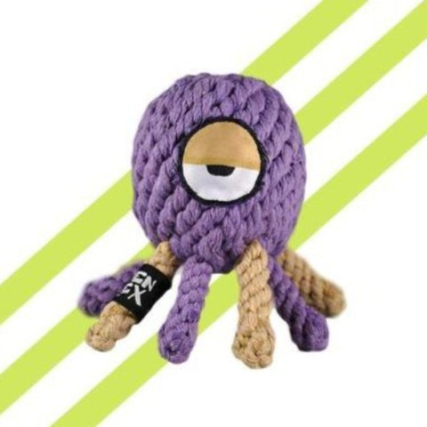 Alien Flex Rope Octopi Dog Toy