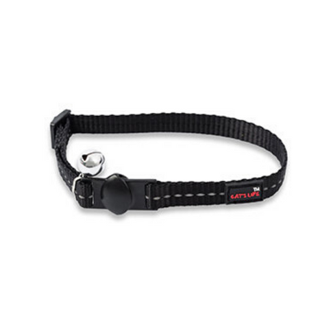 Cat's Life Black Reflective Collar