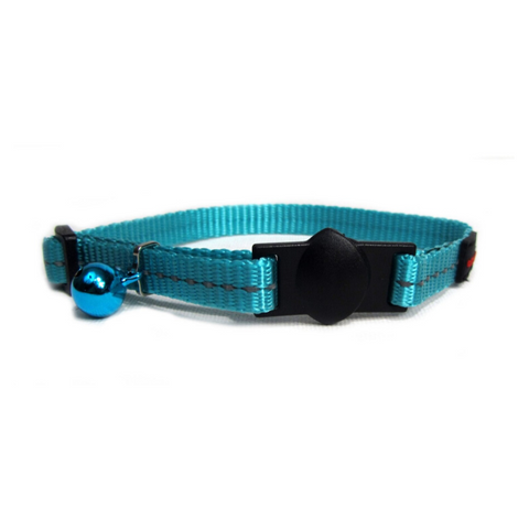 Cat's Life Blue Reflective Collar