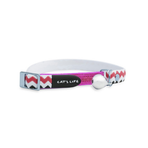 Cat's Life Pink Chevron Collar