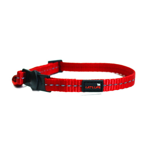Cat's Life Red Reflective Collar