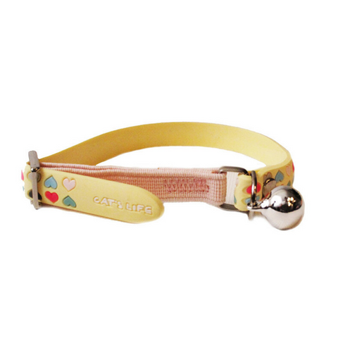 Cat's Life Yellow Hearts Collar
