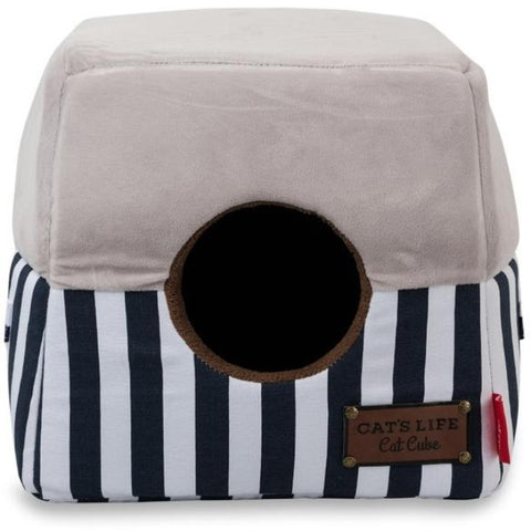 Cat's Life Navy Stripe Cube