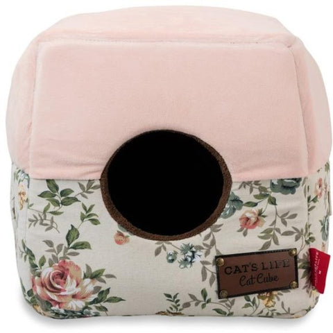 Cat's Life Pink Floral Cube