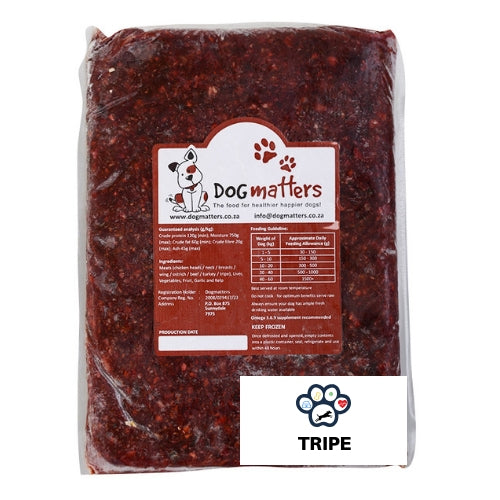 Dog Matters Raw Food - Tripe