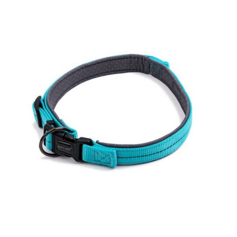Dog's Life Blue Reflective Supersoft Padded Webbing Neoprene Collar