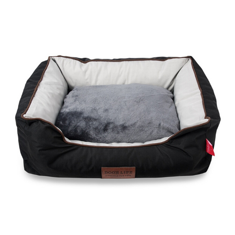 Dog's Life Country Dog Bed - Black