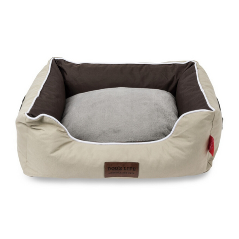 Dog's Life Country Dog Bed - Brown