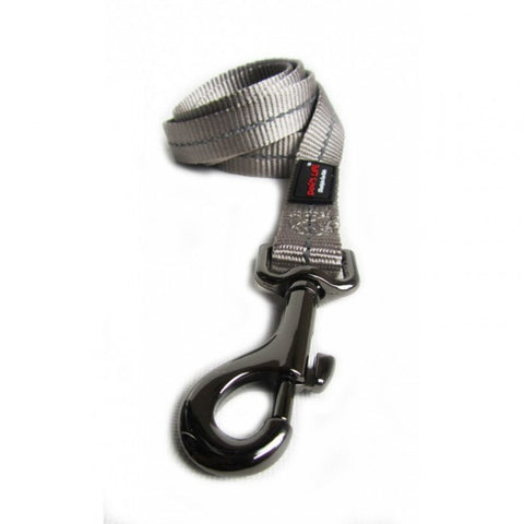 Dog's Life Grey Reflective Supersoft Webbing Leash