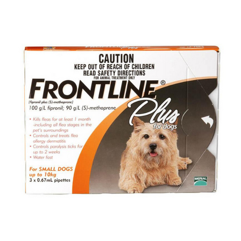 Frontline Plus Puppy & Small Dog 0-10kg Tick & Flea Spot-On Treatment