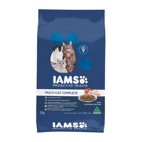 Iams Multicat Complete with Chicken & Salmon Cat Food