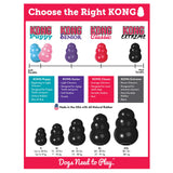 KONG Black Extreme Treat Dog Toy