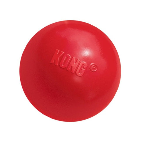 KONG Red Ball with Hole Dog Toy
