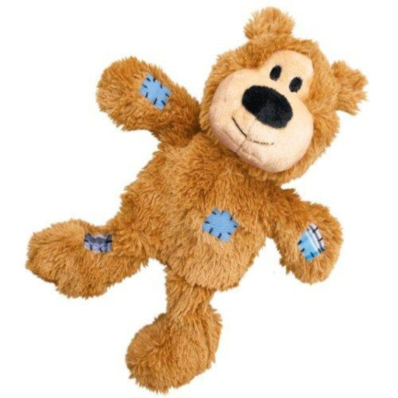 KONG Wild Knots Bear Plush Dog Toy - Caramel