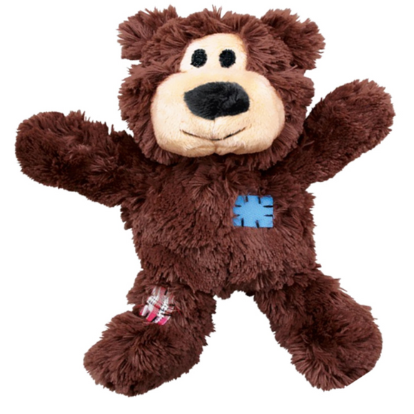 KONG Wild Knots Bear Plush Dog Toy - Dark Brown