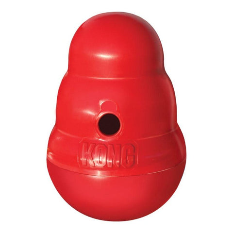 Kong Wobbler Slow Feeder Dog Toy - Red