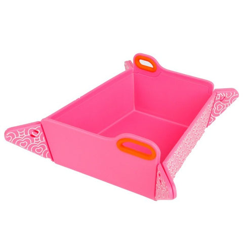 L'Chic Chop2Bowl Dog Bowl - Pink