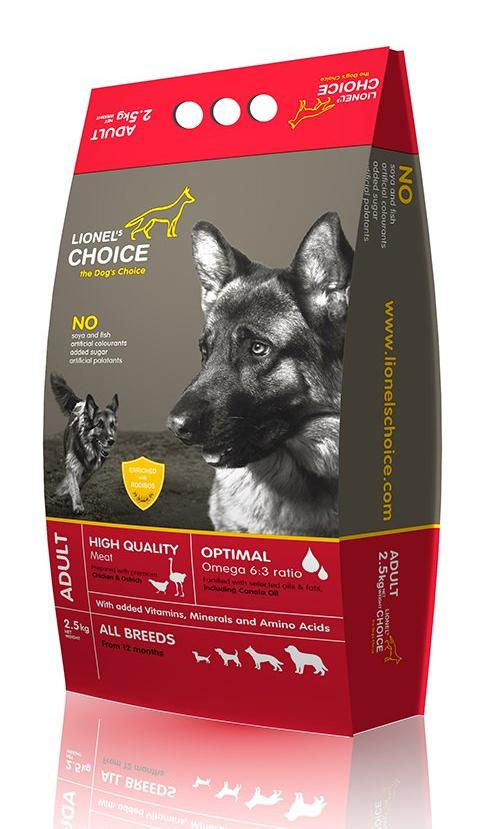 Lionel's Choice Chicken & Ostrich Adult Dog Food