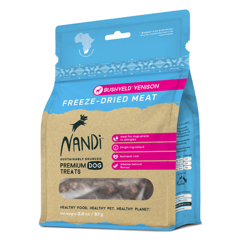 Nandi Bushveld Venison Freeze-Dried Dog Treats