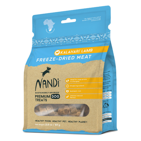 Nandi Kalahari Lamb Freeze-Dried Dog Treats