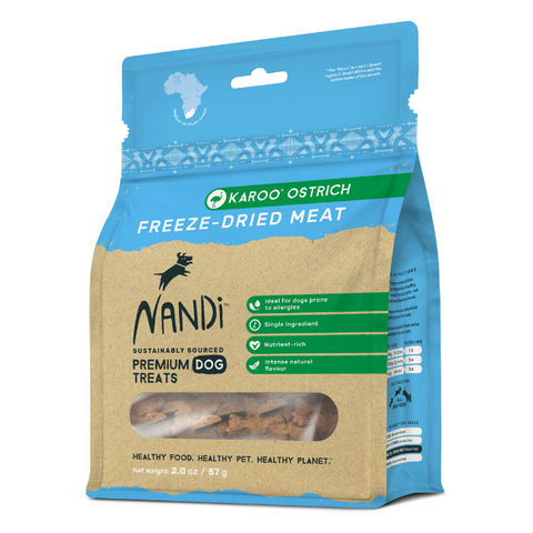 Nandi Karoo Ostrich Freeze-Dried Dog Treats