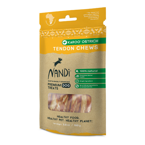 Nandi Karoo Ostrich Tendon Dog Chews