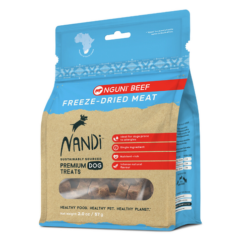 Nandi Nguni Beef Freeze-Dried Dog Treats