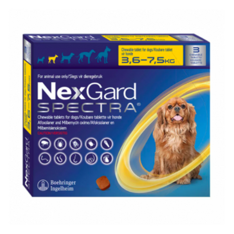 Nexgard Spectra Chewable Tablet 3.6-7.5kg