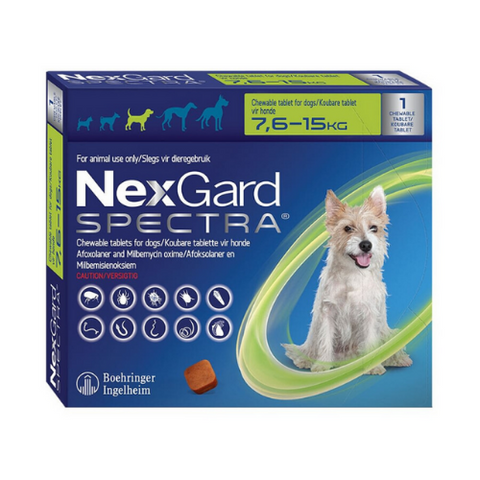 Nexgard Spectra Chewable Tablet 7.6-15kg