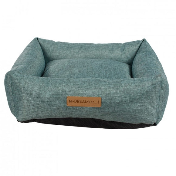 Oleron Blue Basket Dog Bed