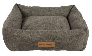 Oleron Dark Grey Basket Dog Bed