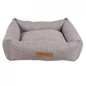 Oleron Light Grey Basket Dog Bed