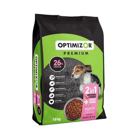 Optimizor Premium 2in1 Milky Bones Puppy Food