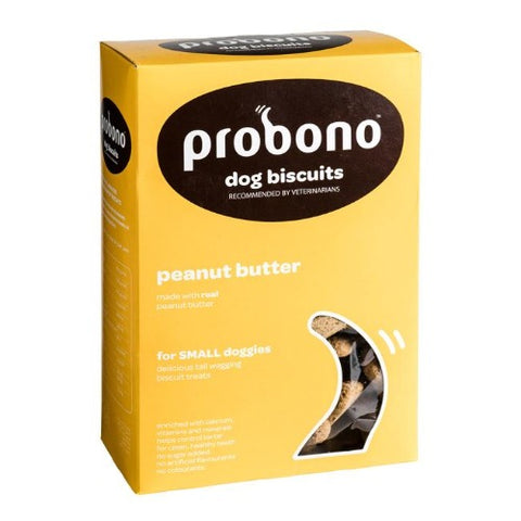 Probono Peanut Butter Small Dog Biscuits