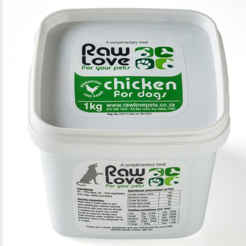 Raw Love Dog Food - Chicken